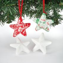 Baker Ross 3D Polystyrene Stars for Children to Decroate and Personalise (Pack of 15)