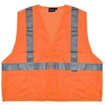 ERB 14525 S15 ANSI Class 2 Mesh Safety Vest with Pockets, Orange, 6X-Large