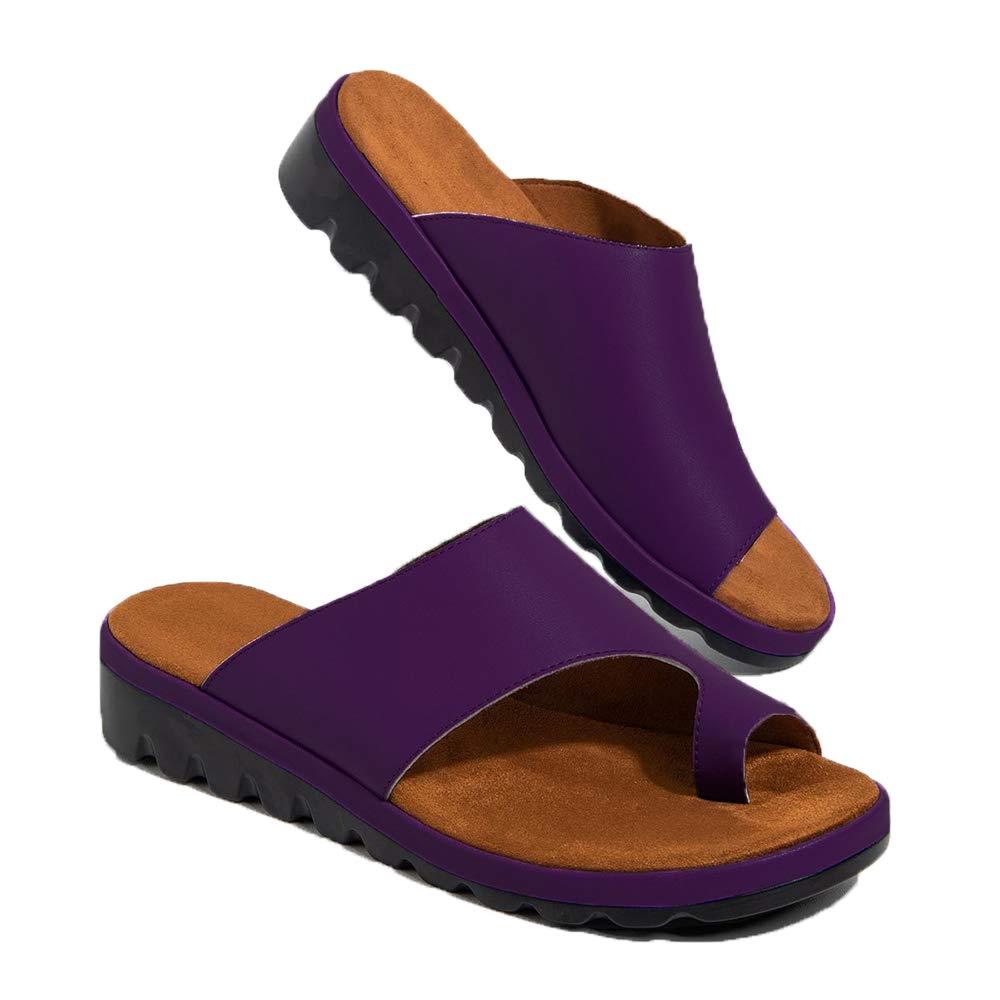 Chenghe Women's Flip Flop Wedge Sandal Comfort Open Toe Thong Slid Slippers Summer Beach Travel Sandal Shoes