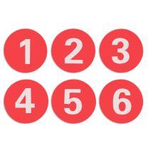 Aspire Acrylic Locker Number Signs Self-Adhesive Tag Red 31-60