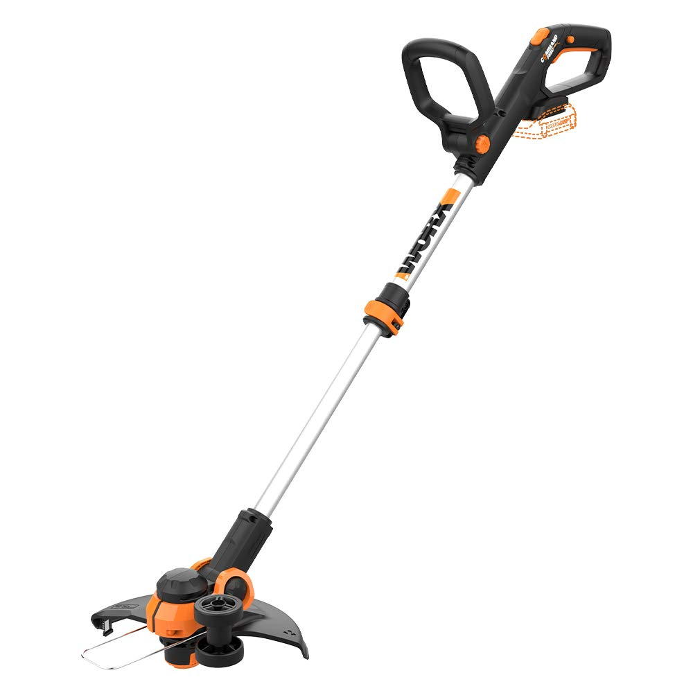 "WORX WG163.9 20V Cordless Grass Trimmer/Edger with Command Feed, 12"" TOOL ONLY,  battery and charger sold separately"