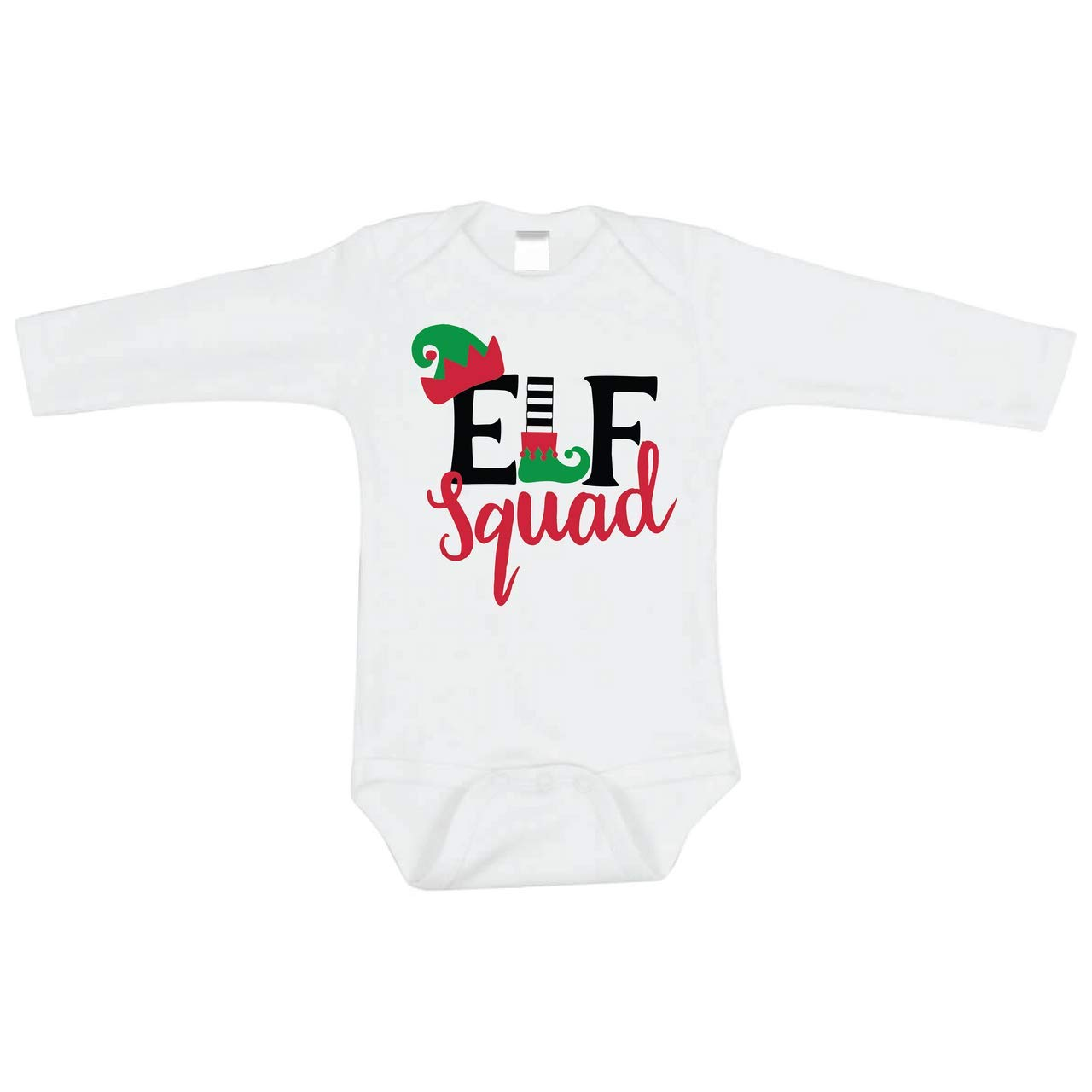 Bump and Beyond Designs Infant and Baby Elf Squad Christmas Bodysuit Boy and Girl Outfit