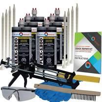 Concrete Floor Crack Repair Kit - Ultra Low Viscosity Polymer - FLEXKIT-1200-60