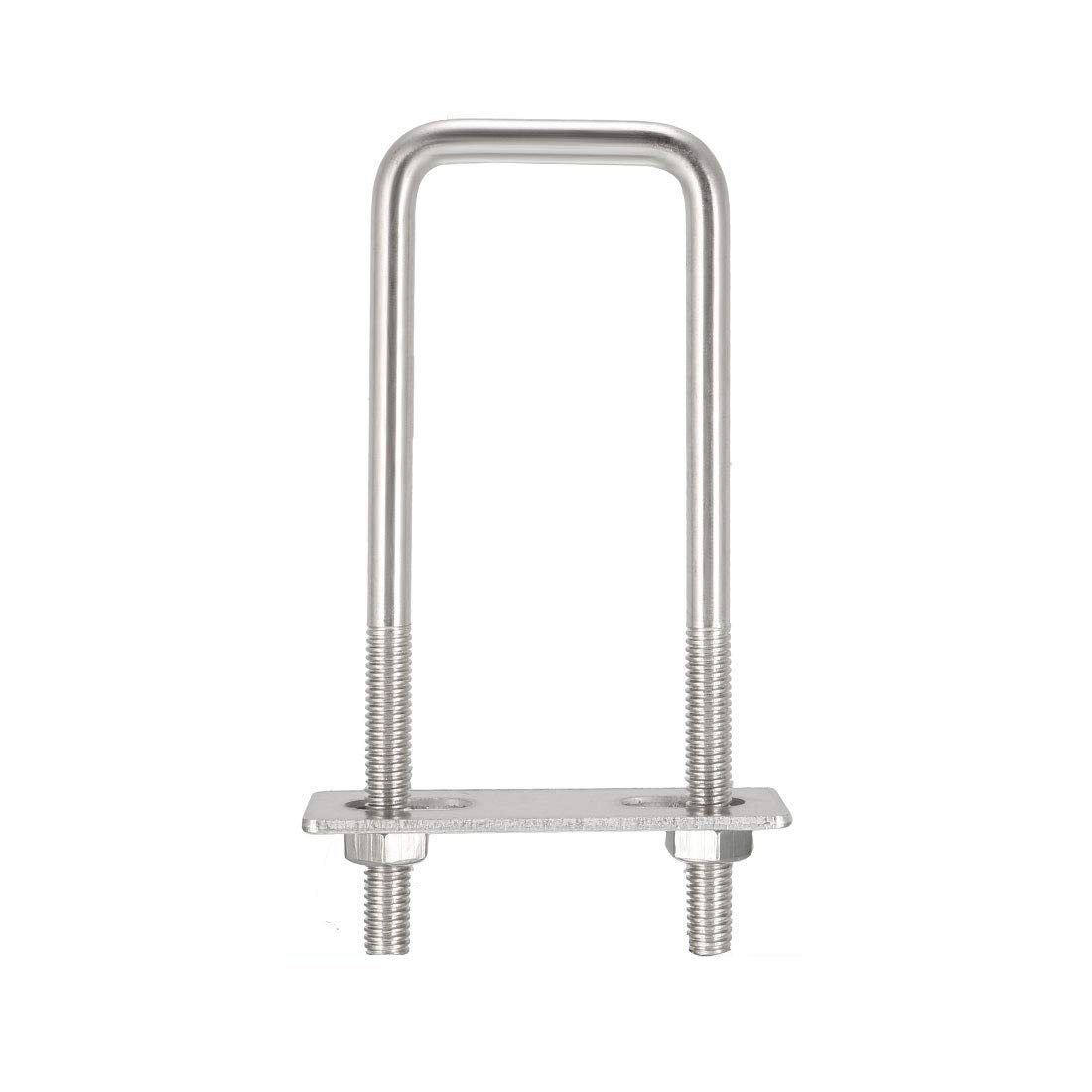 YXQ Square U-Bolts 304 Stainless Steel with Nuts Frame Straps (M6,31mm,6Pcs)