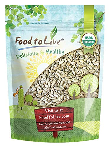 Organic Sprouted Sunflower Seeds, 2 Pounds — Non-GMO, Kosher, No Shell, Unsalted, Raw Kernels, Vegan Superfood, Bulk