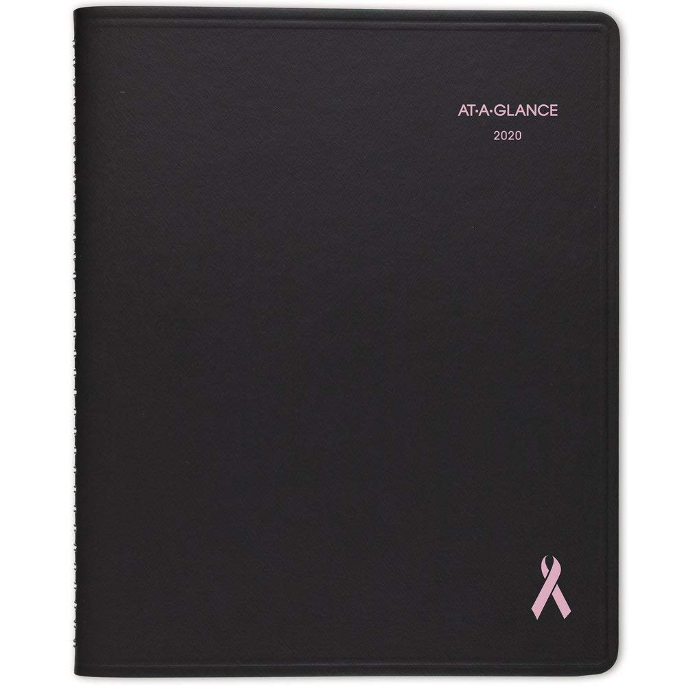 """AT-A-GLANCE 2020 Monthly Planner, QuickNotes, 7"""" x 8-3/4"""", Medium, City of Hope, Black (76PN080519)"""