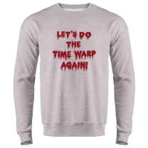 Pop Threads Let's Do The Time Warp Again! Halloween Costume Crewneck Sweatshirt for Men