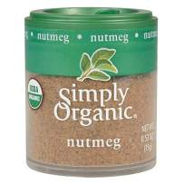 Simply Organic Ground Nutmeg, Certified Organic | 0.53 oz | Pack of 6 | Myristica fragrans Houtt.