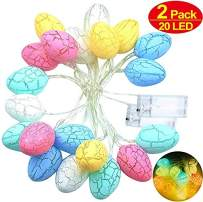 2 Pack Home Decorations Lights,10Ft 20 Easter Egg LED String Lights Battery Operated,Bunny Fairy String Lights July 4th Decorations for Home Tree Upstairs Banister Holiday Party Home Dec