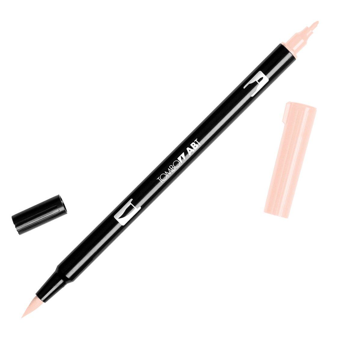 Tombow 56598 Dual Brush Pen Art Marker, 850 - Flesh, 1-Pack. Blendable, Brush and Fine Tip Marker