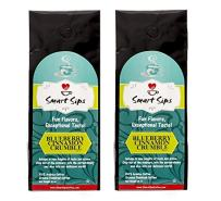Smart Sips Coffee, Blueberry Cinnamon Crumble Ground Flavored Arabica Coffee, Medium Roast, 20 Ounces