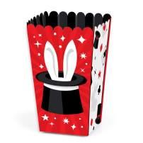 Big Dot of Happiness Ta-Da, Magic Show - Magical Birthday Party Favor Popcorn Treat Boxes - Set of 12