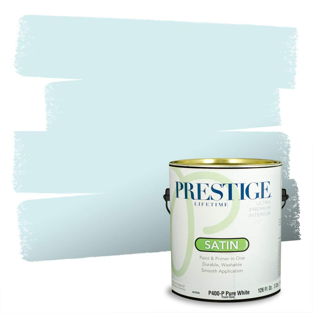 Prestige, Greens and Aquas 6 of 9, Interior Paint and Primer In One, 1-Gallon, Satin, South Breeze
