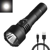 TATTU FL02 Tactical Flashlight Rechargeable 1100 Lumen White Light LED Lamp, with 18650 Battery and Micro USB Charging Cable