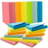 Cocoboo 12 Pads Super Sticky Notes, 3 x 3 Inches Self-Stick Notes, 100 Sheets Each Pad, 6 Colors, Post Notes for School and Office