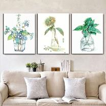 """MADE4U [ Plant Flowers Series ] [ 20"""" ] [ Thicker (1"""") ] [ Wood Framed ] Paint by Numbers Kit with Brushes and Paints (Flowers Great Saver Bundle of 3 XL84X305)"""