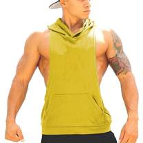 Panegy Tank Tops Men Bodybuilding Tanks Stringer Gym Sports Hooded Workout Sleeveless Shirt Stuff