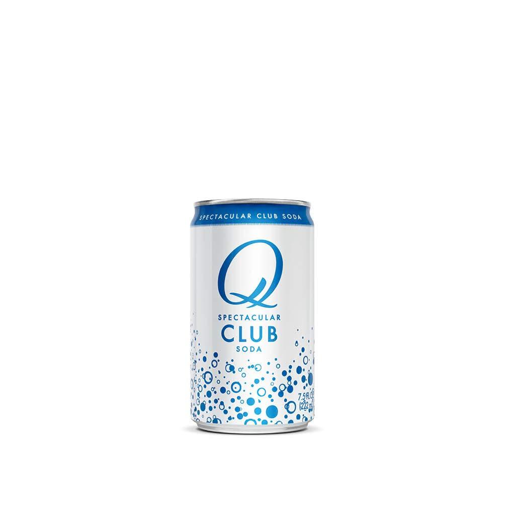Q Mixers Club Soda, Premium Cocktail Mixer, 7.5 oz (12 Cans)