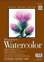 "Strathmore P440-2 Watercolor Pad, 11""x15"" Wire Bound, 12 Sheets"