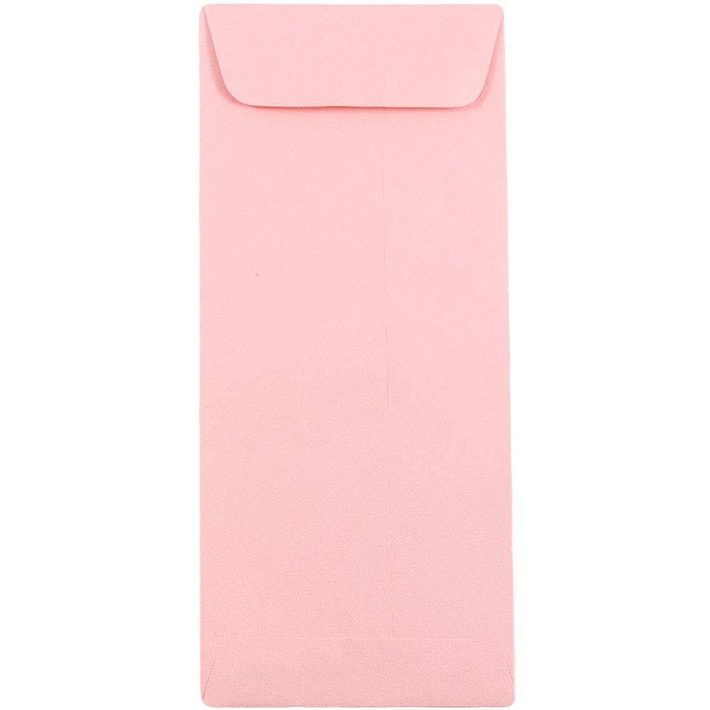 JAM PAPER #10 Policy Business Premium Envelopes - 4 1/8 x 9 1/2 - Baby Pink Pastel - Bulk 250/Box