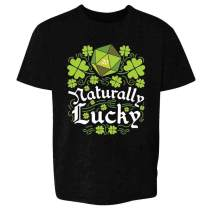 Pop Threads St Patricks Day Shirt Funny Green Shamrock Irish Youth Kids Girl Boy T-Shirt