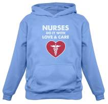 TeeStars - Nurses Do It with Love and Care - Best Gift for Nurse Women Hoodie