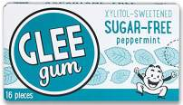 Glee Gum Sugar-Free Peppermint, 1-Ounce (Pack of 12)