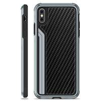"""OCYCLONE Luxuries Series 2-nd, iPhone Xs Max Case - Military Grade Drop Tested, Aluminum Metal, Carbon Fiber and Anti-Drop Protective Case for iPhone Xs Max, 6.5"""" inch LCD Screen (Black)"""