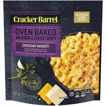 Cracker Barrel Oven Baked Cheddar Havarti Macaroni and Cheese Dinner (12.3 oz Pouch)-SET OF 4