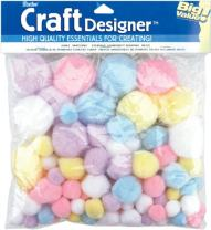 Craft Pom Pom Balls 100 Count Spring Easter Pastel Colors
