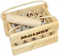 Molkky - Wooden Pin & Skittles Game - Outdoor Fun - For Beach - Park - Picnic - Playground - Classic Family Garden Game from Tactic