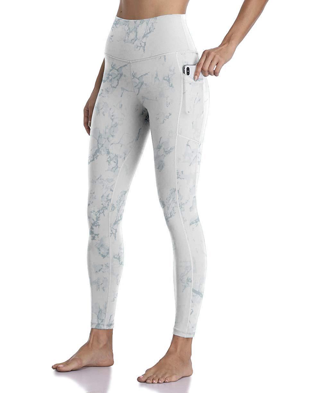 Free Leaper Women's High Waisted Leopard Snake Print Pattern Yoga Pants Full Length Leggings with Pockets