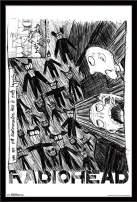 "Trends International Radiohead - Scribble Wall Poster, 22.375"" x 34"", Black Framed Version"
