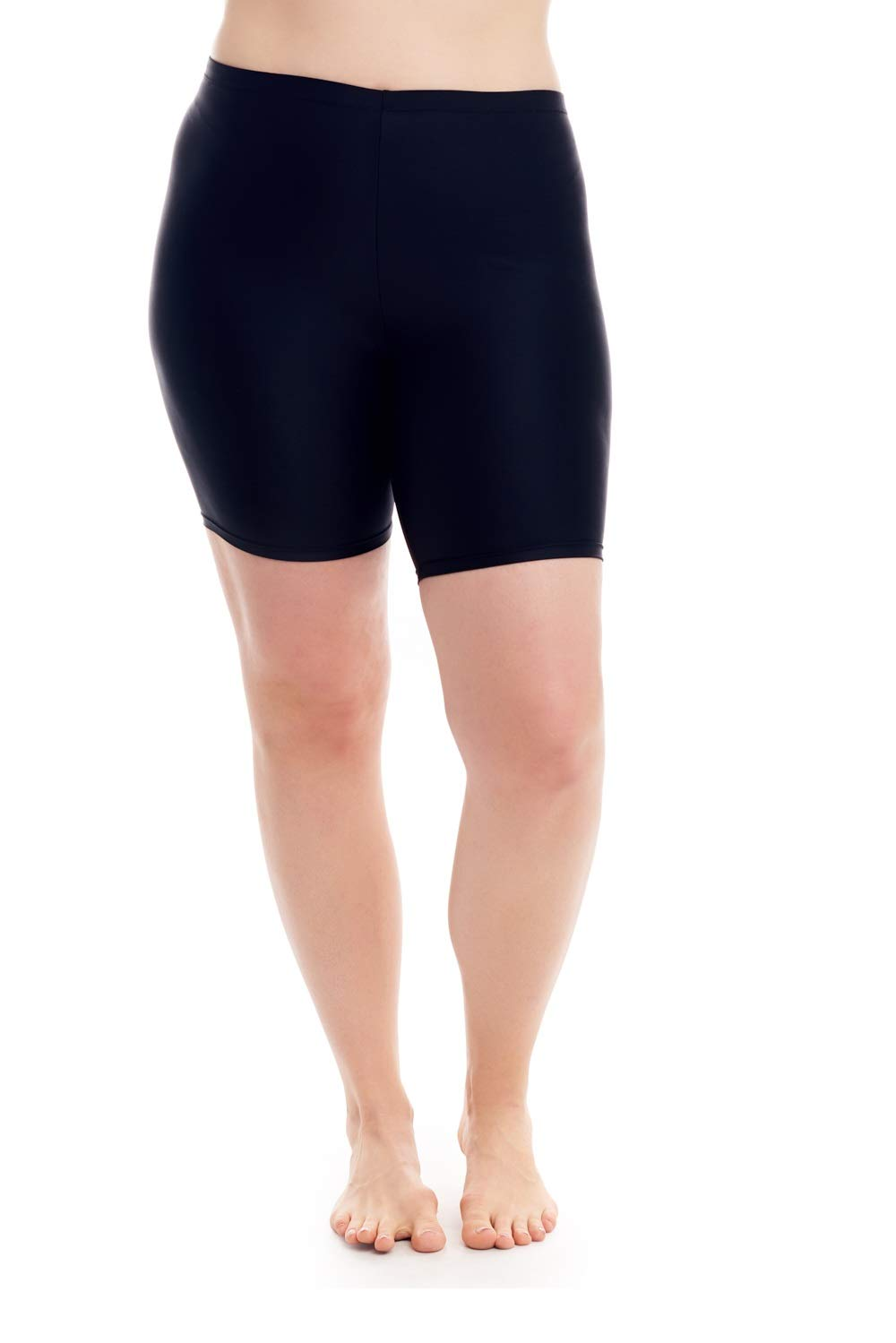 COVER GIRL Womens Swimwear Straight and Curvy Swim Shorts Full Coverage with Tummy Control
