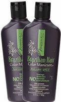 Awesome Brazilian Hair Color Manicure - Acid Color pH3.5, No Damage, No Ammonia, No Peroxide, No Formaldehyde, Silk Protein, Keratin Protein, Olive Oil, 3.53 Oz. (Pack of 2) (Jet Black)
