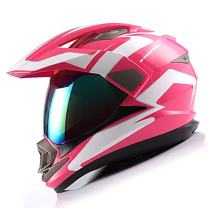 1Storm Dual Sport Helmet Motorcycle Full Face Motocross Off Road Bike Racing Pink White