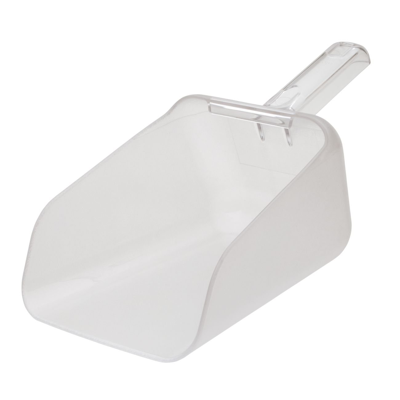 Rubbermaid Commercial Products FG9F7600CLR Bouncer Contour Scoop for Ingredient Bins, 64 oz, Clear (Pack of 6)