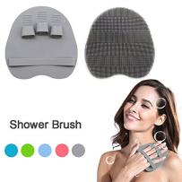 Soft Silicone Shower Brush Body Wash Bath Exfoliating Skin Massage Scrubber, Dry Skin Brushing Glove Loofah, Fit for Sensitive and All Kinds of Skin