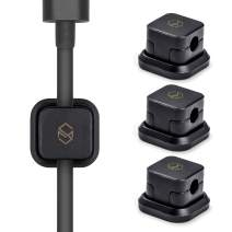 Sinjimoru Magnetic Cable Clips, Multipurpose Cable Management for Car and Office Supplies, Self Adhesive Cable Organizer Clip. Magnetic Cable Holder (Magnetic Cable Holder [3 Pack], Black)