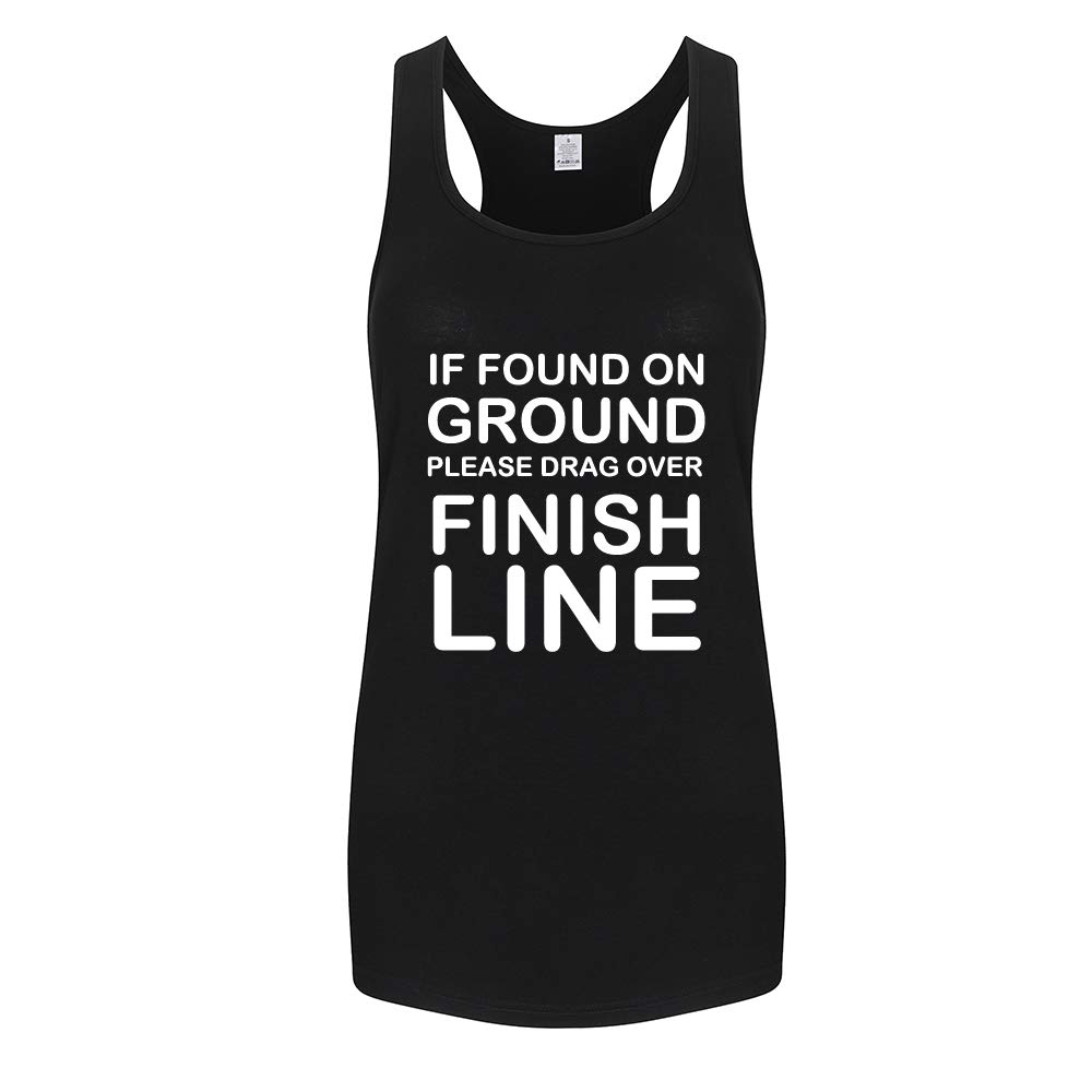 WINGZOO Workout Tank Tops for Women-Womens Finish Line Funny Saying Fitness Gym Racerback Sleeveless Shirts