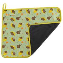 Lil Helper Charcoal Change Diaper Mat, Foldable, Waterproof Pad, Travel Mat Station, Compact, Portable Mattress, Unisex Cover for Boys and Girls (Bananarama)