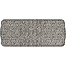 "GelPro Elite Premier Anti-Fatigue Kitchen Comfort Floor Mat, 20x48"", Damask Dove Grey Stain Resistant Surface with therapeutic gel and energy-return foam for health & wellness"