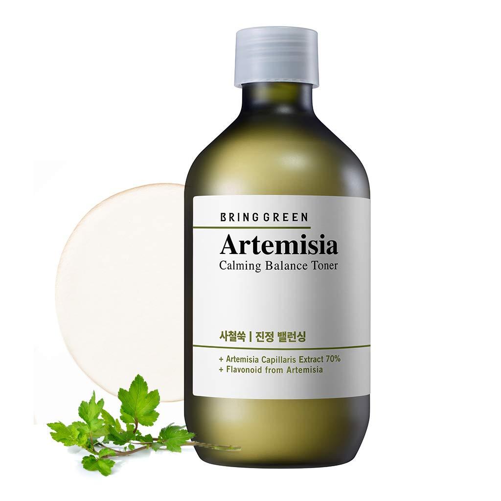BRING GREEN Artemisia Calming Balance Toner 270ml - Redness Relief Skin Soothing Astringent, Salicylic Acid Formula Natural Ingredients for Sensitive & Damaged Skin