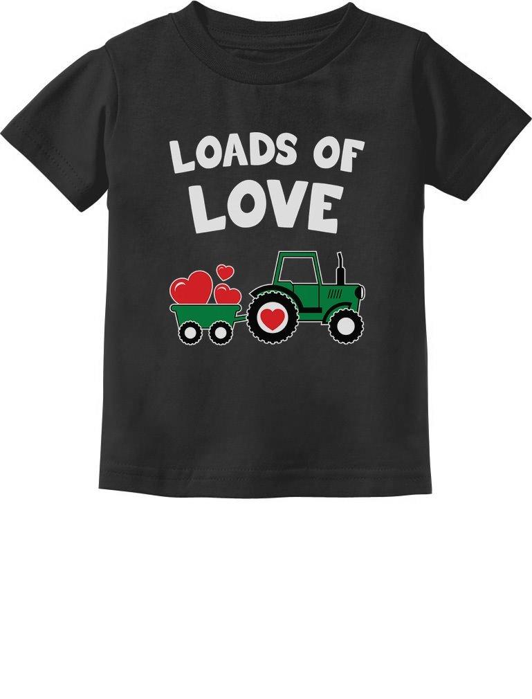 Loads of Love Valentine's Gift Tractor Loving Toddler Infant Kids T-Shirt