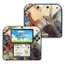 MightySkins Glossy Glitter Skin for Nintendo 2DS - Tale of A Dragon | Protective, Durable High-Gloss Glitter Finish | Easy to Apply, Remove, and Change Styles | Made in The USA