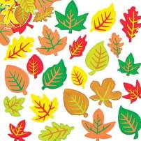 Baker Ross AF547 Leaf Foam Stickers Arts and Craft Self Adhesive (Pack of 144), Assorted