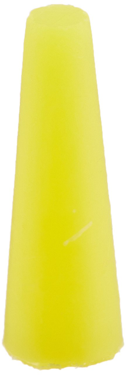 TapeCase Yellow, Silicone Tapered Stoppers, 0.250in b x 0.125in t x 0.750in L - 1000 (Units/Package)
