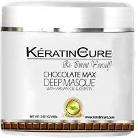 Keratin Cure Chocolate Max Deep Hair Mask Masque Moisturizing Reparation Shea Butter Argan Oil Strengthen Boosts Growth Smooths Frizz Scalp Treatment for all types 17 oz