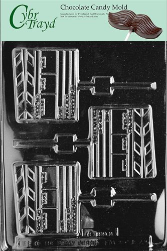 Cybrtrayd Life of the Party J072 Movie Cinema Director's Clip Board Chocolate Candy Mold in Sealed Protective Poly Bag Imprinted with Copyrighted Cybrtrayd Molding Instructions