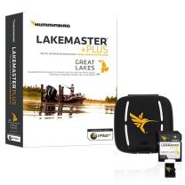 Humminbird LakeMaster Plus Great Lakes Edition Digital GPS Lake and Aerial Maps, Micro SD Card, Version 2